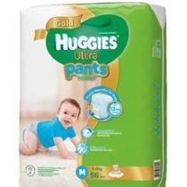 ผ้าอ้อมสำเร็จรูป HUGGIES ULTRA PANTS SUPER JUMBO BOY รุ่น 10018337 ไซส์ M 56 ชิ้น