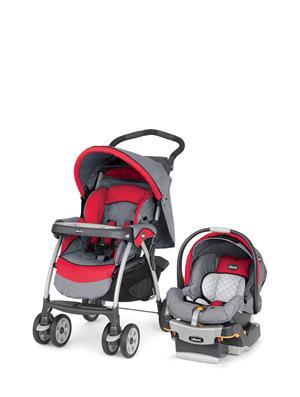CHICCO รถเข็นเด็กพร้อมคาร์ซีท รุ่น CH420790764500 สีเทา-แดง