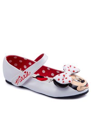 MICKEY MOUSE รองเท้าคัชชูส้นแบนเด็กผู้หญิง รุ่น MK391 ไซส์ 26 สีขาว